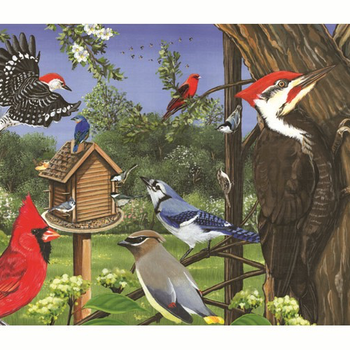- COBBLE HILL AROUND THE BIRD FEEDER TRAY PUZZLE 35 PC