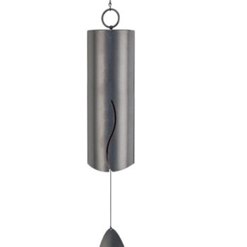 "- REGAL WIND BELL 6"" LONG PEWTER"