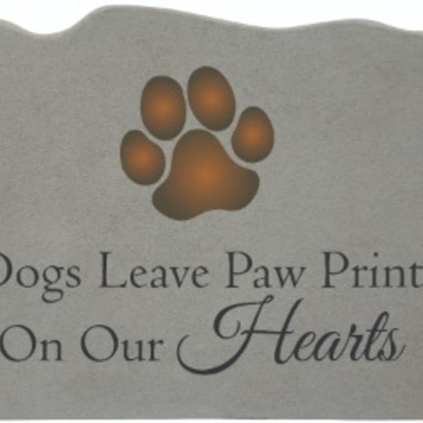 - KAYBERRY DOGS LEAVE PAW PRINTS ON OUR HEARTS PLAQUE