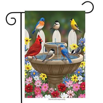 - BRIARWOOD LANE BIRD BATH GATHERING GARDEN FLAG
