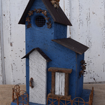 - NATURE CREATIONS BARN WOOD COTTAGE HOUSE W/TIN ROOF #18 BLUE