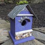 - NATURE CREATIONS BARN WOOD BIRD HSE W/TIN ROOF #55 PURPLE