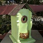 - NATURE CREATIONS BARN WOOD BIRD HOUSE W/TIN ROOF #56 MINT