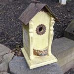 - NATURE CREATIONS BARN WOOD BIRD HOUSE W/TIN ROOF #56 YELLOW
