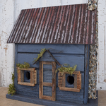 - NATURE CREATIONS BARN WOOD BIRD HOUSE W/TIN ROOF #10 CHARCOAL