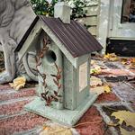 - NATURE CREATIONS BARN WOOD BIRD HOUSE W/TIN ROOF #04 SAGE