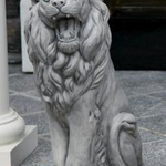 "- MASSARELLIS STONE 24"" SITTING LION LEFT"