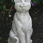 """- MASSARELLIS 15"""" SITTING CAT STATUE"""