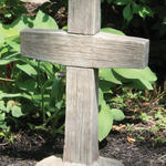 "- MASSARELLIS STONE 24"" WOODGRAINED CROSS"