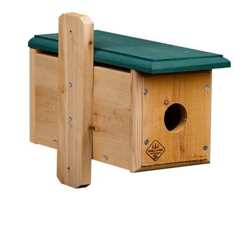 - WELLIVER HORIZONTAL CEDAR BLUEBIRD HOUSE