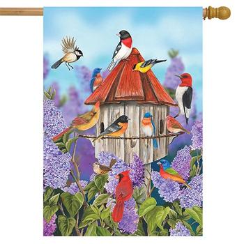 - BRIARWOOD LANE BIRDS & LILACS ESTATE FLAG