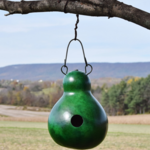 - MEADOWBROOK GOURDS CABIN BIRDHOUSE GREEN