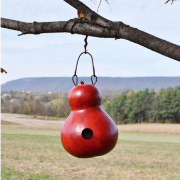 - MEADOWBROOK GOURDS CABIN BIRDHOUSE RED