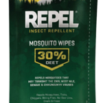 - REPEL MOSQUITO WIPES 30% DEET 15/PACK