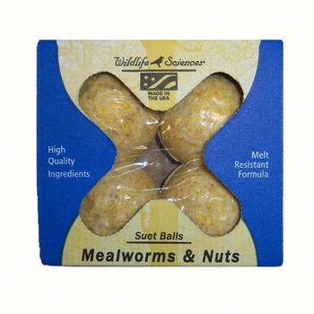 - WILDLIFE SCIENCES MEALWORM & NUT SUET BALLS 4PK
