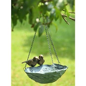 - SPI BIRD AND NEST HANGING  BIRD BATH/FEEDER