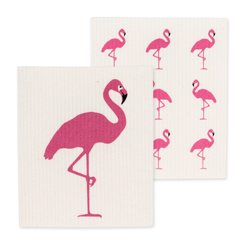 - ABBOTT FLAMINGO SWEDISH DISH CLOTH