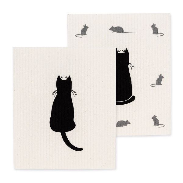 - ABBOTT CAT & MICE SWEDISH DISH CLOTH SET