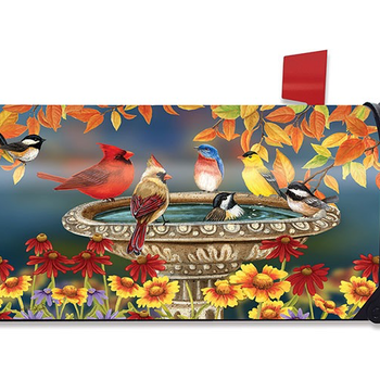 - BRIARWOOD LANE FALL BIRD BATH MAILBOX COVER