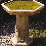 - MASSARELLIS STONE LILLY PAD BIRD BATH