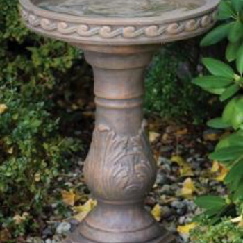 - MASSARELLIS STONE SCROLL BIRD BATH