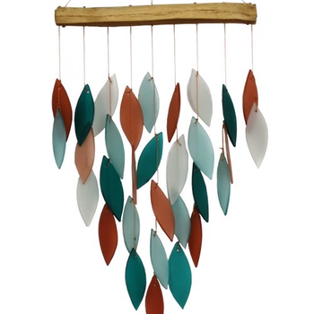 -GIFT ESSENTIALS CORAL AND TEAL WATERFALL CHIME GEBLUEG596