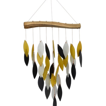 -GIFT ESSENTIALS BLACK AND GOLD WATERFALL CHIME GEBLUEG588