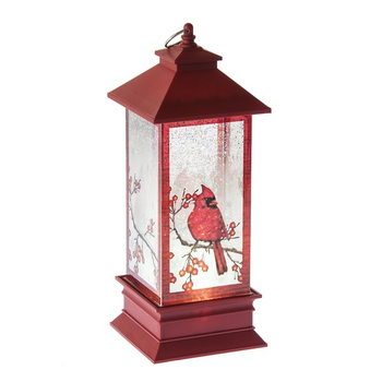 - GANZ LIGHTED LED SHIMMER CARDINAL LANTERN