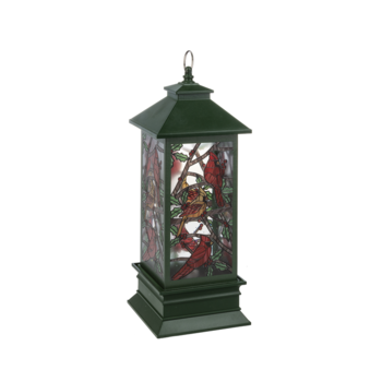 - GANZ LIGHT UP LED MOSAIC CARDINAL SHIMMER LANTERN