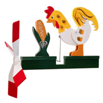 - WALSTON WOODCRAFT ROOSTER WHIRLYGIG