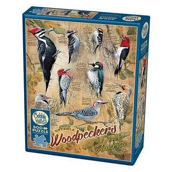 -COBBLE HILL NOTABLE WOODPECKERS  PUZZLE 500PC. OM85007