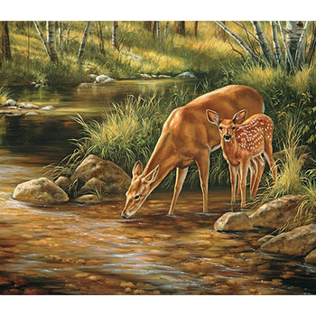 -COBBLE HILL DEER FAMILY -FAMILY PUZZLE 350 PC. OM54626