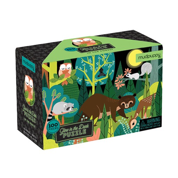 -MUDPUPPY IN THE FOREST GLOW IN THE DARK PUZZLE 100PCS CB9780735354029