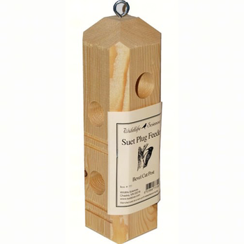 - SONGBIRD ESSENTIALS 3 PLUG SUET LOG W/PERCHES