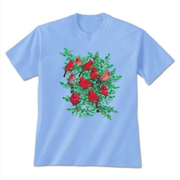 - EARTH SUN MOON CARDINALS AND HOLLY LADIES TSHIRT