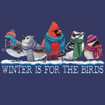 - EARTH SUN MOON WINTER IS FOR THE BIRDS TSHIRT ADULT