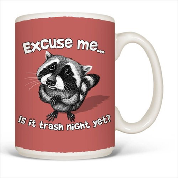 - EARTH SUN MOON EXCUSE ME RACCOON MUG