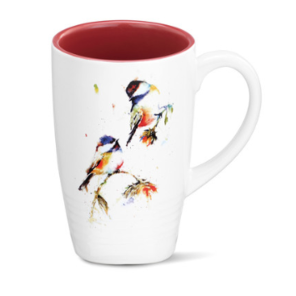 - DEMDACO CHICKADEES DROPPING IN LATTE MUG