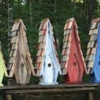 - HEARTWOOD HIGH COTTON TALL BIRD HOUSE