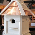 -WOODY'S PAINTED COPPER TOP GAZEBO BIRD HOUSE