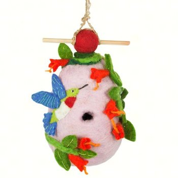 - DZI HUMMINGBIRD FELTED BIRDHOUSE