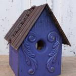 - NATURE CREATIONS BARN WOOD HANGING HOUSE W/TIN ROOF #32 PURPLE