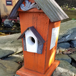 - NATURE CREATIONS BARN WOOD BIRD HSE W/TIN ROOF #47 ORANGE