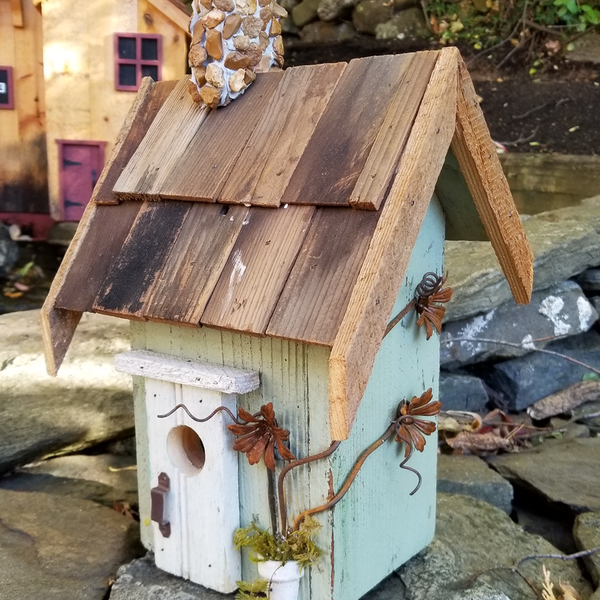 - NATURE CREATIONS BARN WOOD RUSTIC COTTAGE W/WOOD ROOF #07 SAGE