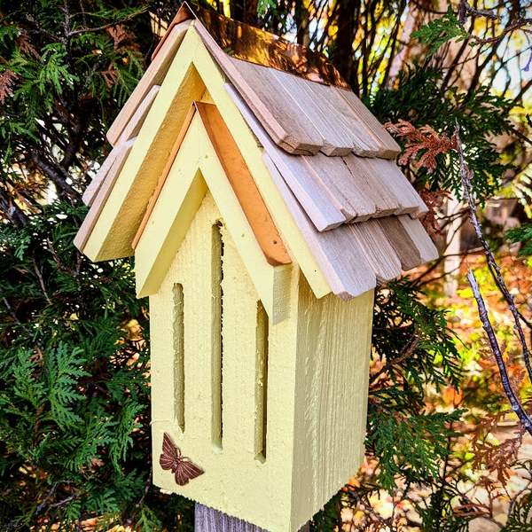 - HEARTWOOD MADEMOISELLE BUTTERFLY HOUSE YELLOW