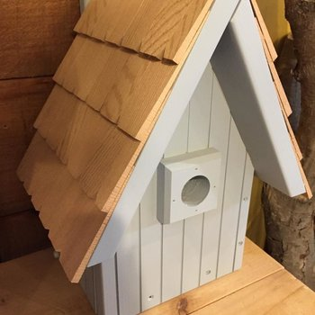 - OLD TIME A-FRAME BIRDHOUSE GREY