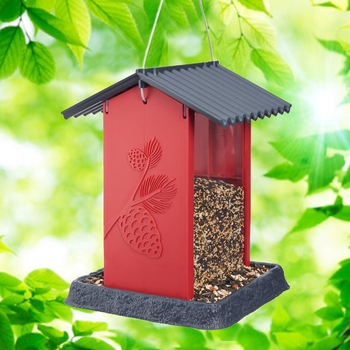 - NORTH STATES RED PINECONE HOPPER STYLE FEEDER