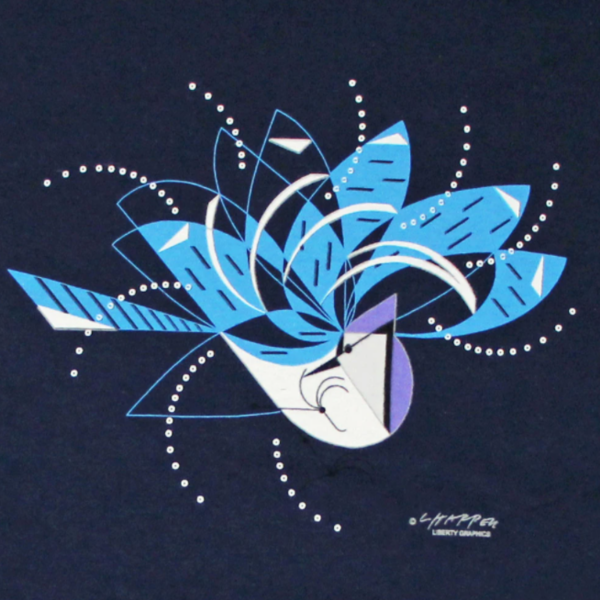 - LIBERTY GRAPHICS CHARLEY HARPER BLUE JAY BATHING LADIES V-NECK NAVY