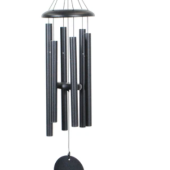 "- WIND RIVER CORINTHIAN CHIMES 30"" BLACK"