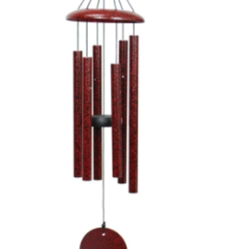 "- WIND RIVER CORINTHIAN CHIMES 27"" RUBY SPLASH"